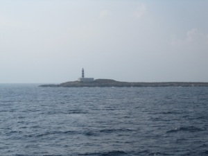 Lighthouse as we approach Formentera