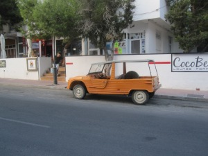 Cool car that I saw in Es Pujols - I saw a few of these on the island...