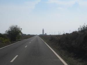 Far de la Mola lighthouse in the distance... straight shot ahead!