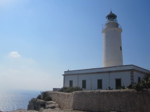 Can you see Josh waving below the lighthouse??