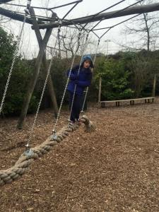 And interesting rope swing.