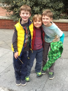 Liam and his best buds - Quinn and Logan