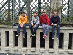 David, Nicolau, Aidan and Guille