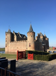 Muiderslot as we enter.