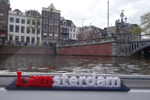We picked up our little Iamsterdam sign at the Rijksmuseum only we then forgot to use it!  So we made up for it during the canal trip!