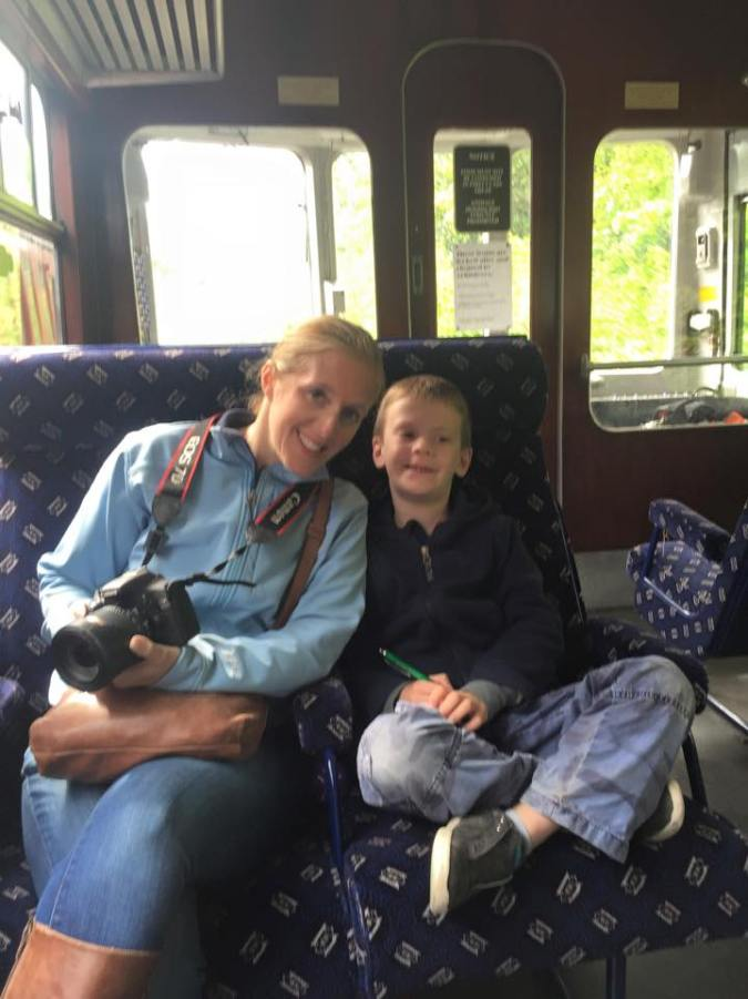 Liam and I on the way to Corwen