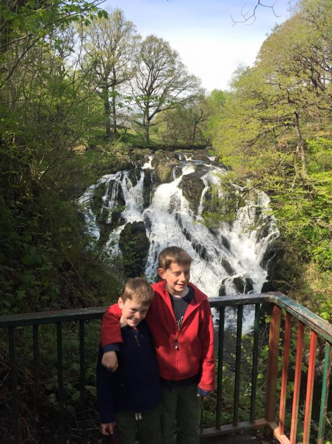 The boys at Swallow Falls