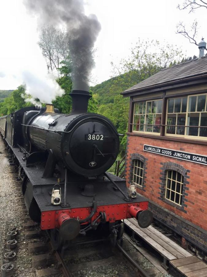 The old steam train that takes you from Llangollen to Corwen