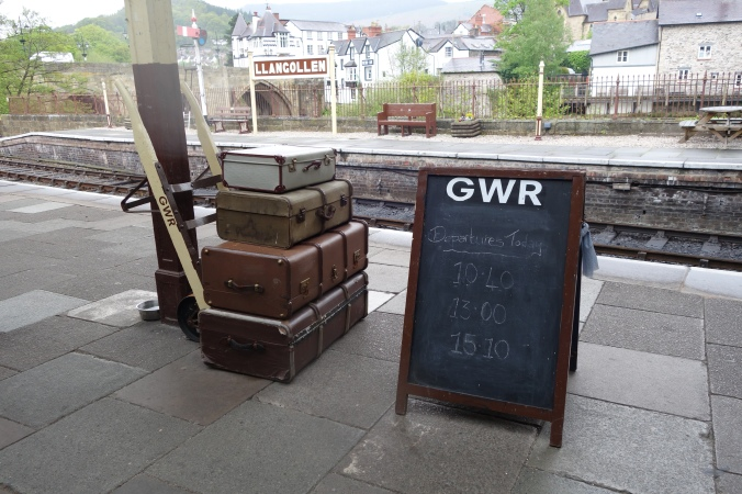 The old Llangollen Railway Station, complete with historic looking baggage ;)