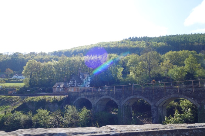 Yes, this is the bridge we saw on the Llangollen Steam train