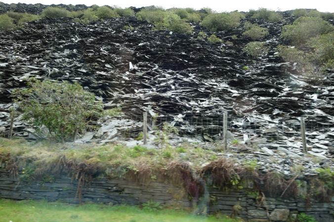 Apparently North Wales is also known for it's slate and we saw a number of mountains where slate was being excavated.