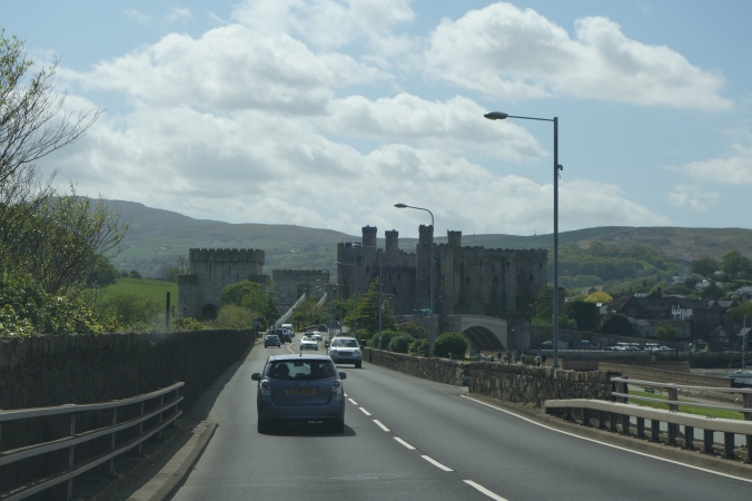 Approaching the castle from the bridge