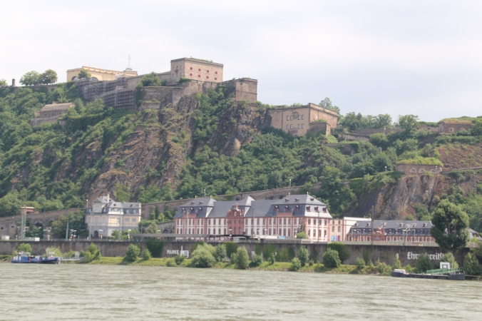 The fortress from the other side of the river