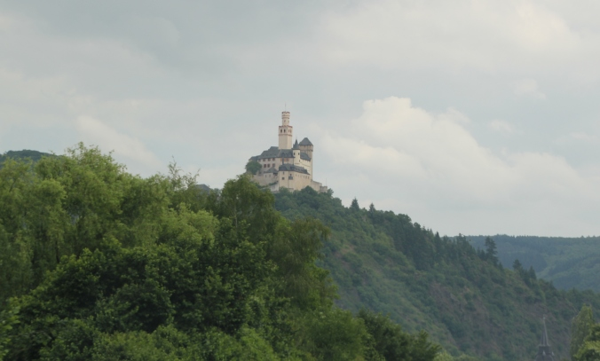 Marksburg Castle from a distance