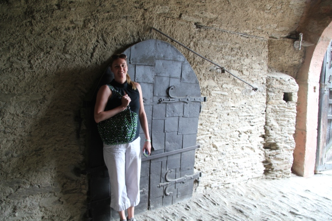 In the entry of Marksburg Castle - I called this a Joshy sized door ;)