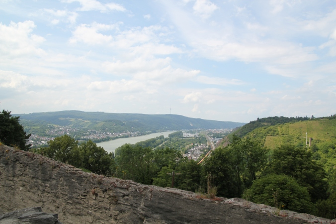 View from Marksburg overlooking the Rhine