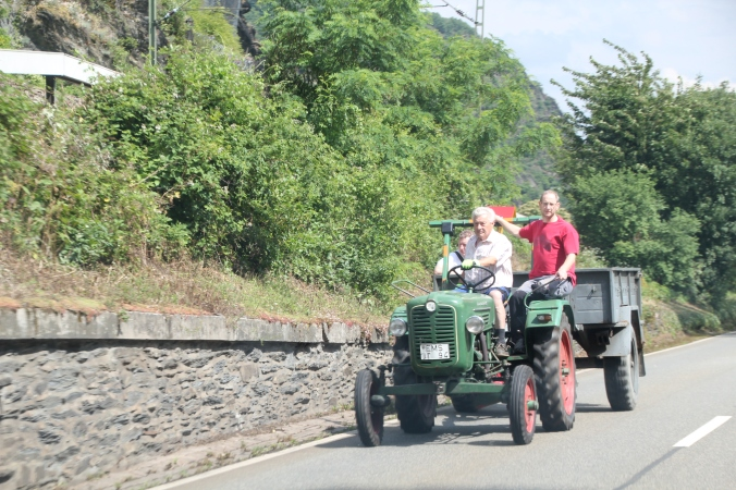 We actually saw tractors fairly frequently...