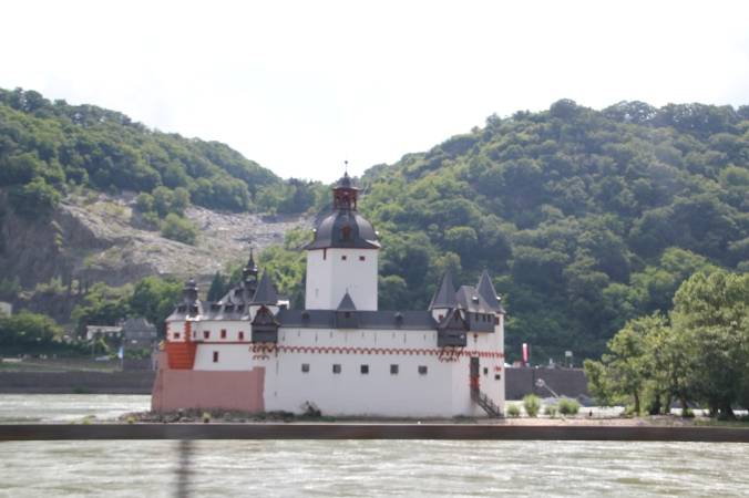 Pfalzgrafenstein Castle which is actually on it's own little island.