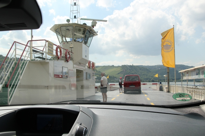 Crossing on the ferry.  Not only fast but cheap!