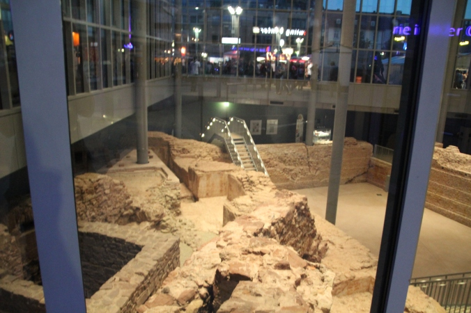 Roman ruins under a building.  Trier is known for it's Roman ruins ...
