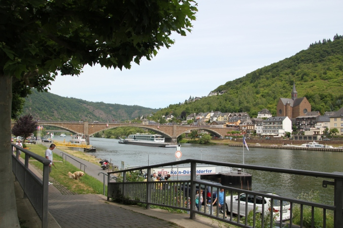 The bridge connecting both sides of town