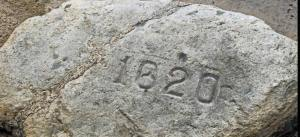 I wonder if the Pilgrims imprinted that 1620 on the rock???? ;)
