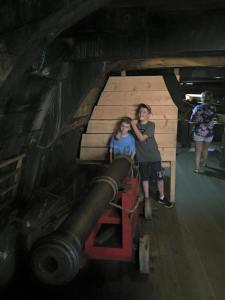 Canons below deck