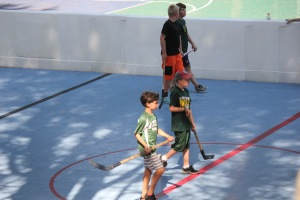 Some street hockey