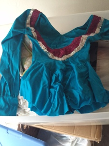 My old roller skating competition costume - from when I was 9!!!!