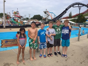 New family and old friends - together at Water Wizz!