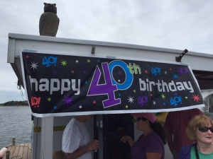 A surprise 40th on the house float
