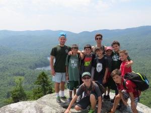 Aidan's cabin climbing the mountain