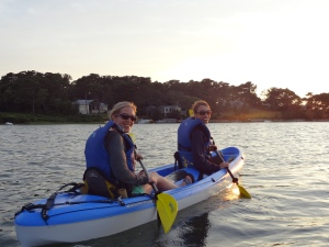 Julie and Urs on the kayak