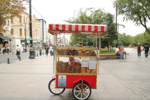 Carts like this dot the city - tempting you with their delicious treats!