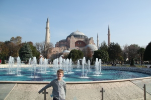 Liam at the Hagia Sophia
