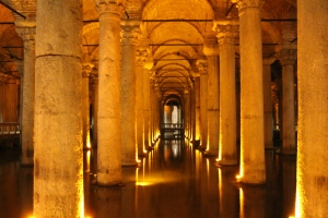 Some more of the columns reflecting in the water