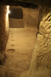 Holes were used to store food and wine jugs