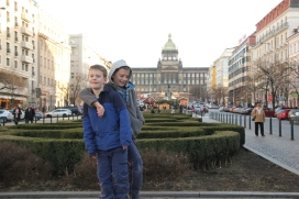 The boys in Wenceslas Square