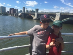 The Longfellow Bridge where Magnus died (also notice the Viking ship)